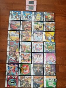 **PINK NINTENDO DS* PLUS 28 GAMES FOR SALE**