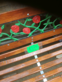 4 foot GARDEN BENCH fully REFURBISHED