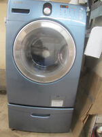 Samsung Front Load Washer on pedestal