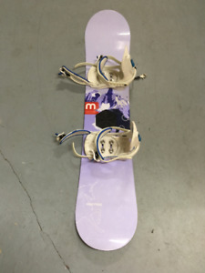 Morrow Mini Wildflower Kids Snowboard with K2 Mini Pro Bindings