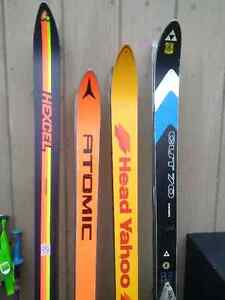 4 Sets of Vintage Downhill Skis