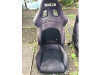 Sparco racing bucket seats