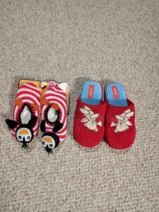 2 pair new toddler slippers