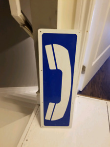 One way and telephone metal sign