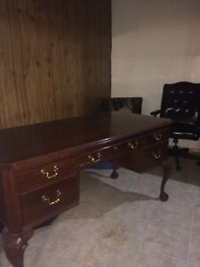 Ethan Allen Cherry Wood Desk Strathcona County Edmonton Area image 2