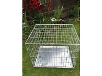 Never been used. Galvanised pet cage