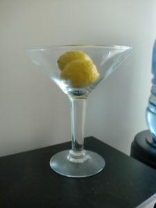 Home decor - 10 inch Martini Glass