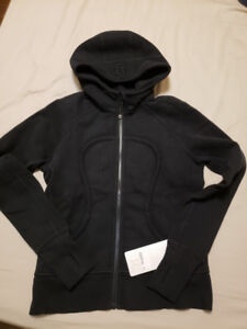 Brand new with tag women Lululemon Scuba hoodie black size 10