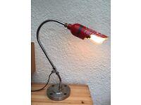 Industrial handcrafted desk lamp