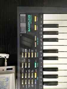 Casio SK-1, Sampling Synthesizer Keyboard with adapter.
