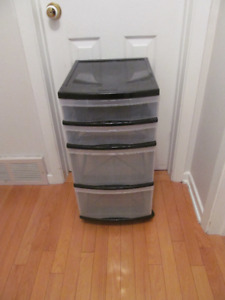 2 x 4 drawer storage unit at $12.50 each 2 for $25