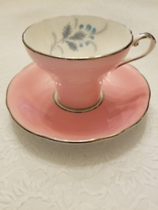 CUP AND SAUCER, ANSLEY BONE CHINA