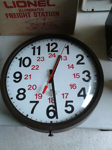 15 inch industrial type wall clock