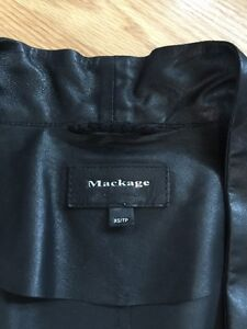 Mackage Black Leather Jackets XS from Aritzia