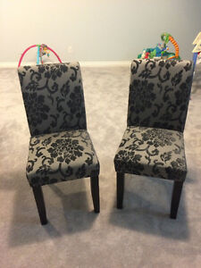 2 accent dining chairs