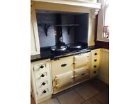 AGA cooker. Converted to oil fired. Cream.