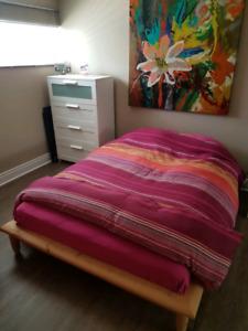 Base de lit double en bois ikea