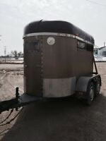 Two horse bumper pull trailer for sale