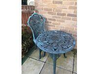 Garden table & chair