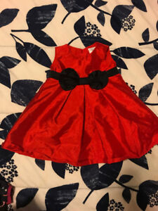 infant Christmas dress Size 6 month
