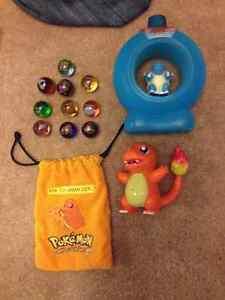 Pokemon cards, marbles, stickers, plastic/eraser figs $110lot Cambridge Kitchener Area image 2