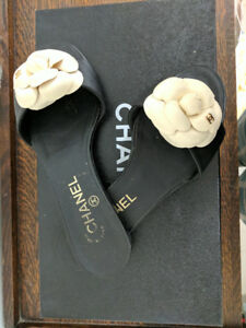 Chanel Slides with Flower