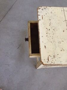 Antique distressed end table London Ontario image 3