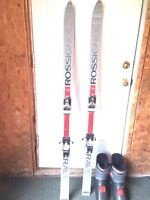 Rossignol downhill skies and boots