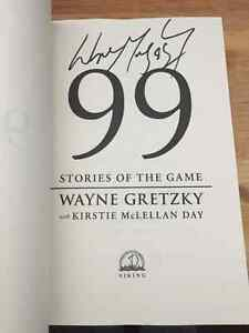 Wayne Gretzky autographed copy of 99 stories of the game