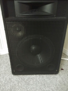 2 speakers and power amp