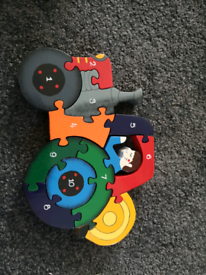 Wooden tractor puzzle.