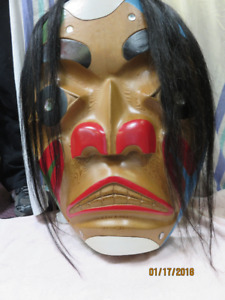 MASK CARVED BY TOM AND LINCOLN WILLIAMS