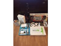 Nintendo Wii with Wii Fit Board & 2 Guitars