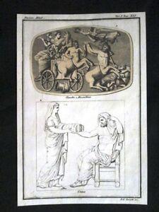 Claudio-Messalina-Crono-Incisione-colorata-a-mano-del-1820-Mitologia-Pozzoli