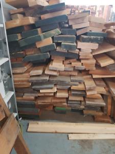 Rough cut hard wood