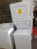 WHirlpool stacking washer and dryer with 90 day warranty. $699.