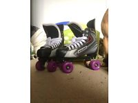 Bauer Roller Skates with SIMS Street Snakes (LIKE NEW!)
