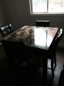 Marbled dining table set for selling
