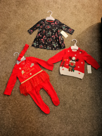 Brand New Baby Girl Christmas Bundle. Aged Up To 3 months