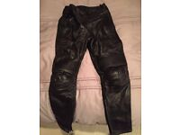 Size 12 ladies genuine leather motorcycle trousers