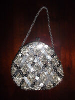 VINTAGE beaded & sequence evening / purse - only $12!