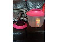 Small pink gold fish tank