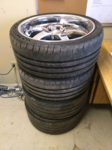 """Boss 335 chrome 20"""" rims (mustang/charger)"""