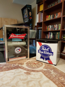 Budweiser Pabst 150 Can Beverage Cooler Bar Fridges Brand New