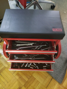 Uline toolbox with tools