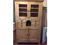 Solid Mexican Pine kitchen, dining room dresser, storage. £200 ono.