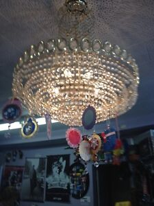 Vintage Glass Chandeliers from 1979  $100.00