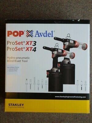 "NEW - POP ProSet XT3 Hydro-Pneumatic Blind Rivet Tool 3/16"" & 1/4"" 7 (NJL016432)"