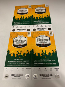4 Grey Cup 2018 Tickets Lower Bowl