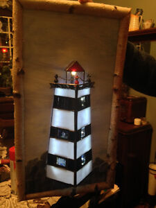"Stained Glass Christmas Tree -- Hand Made -- Approx. 4""- 6"" high London Ontario image 3"